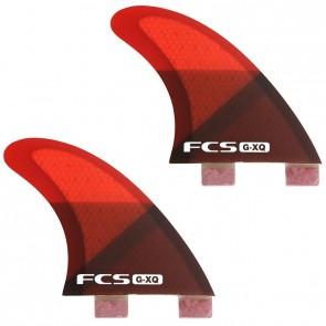 FCS Fins GXQ Quad Rears Fin Set - Red