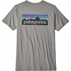 Patagonia P-6 Logo Organic Tee - Feather Grey