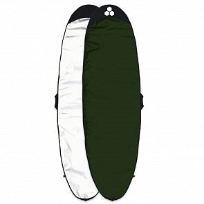 Channel Islands Feather Lite Longboard Surfboard Bag - White/Dark Green