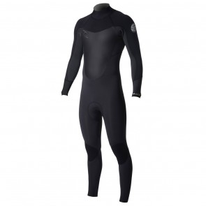 Rip Curl Dawn Patrol 4/3 Back Zip Wetsuit - Black