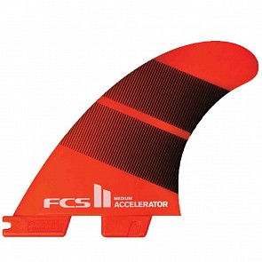 FCS II Fins Accelerator Neo Glass Medium Tri Fin Set - Tang Gradient