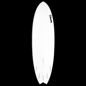 Torq Mod Fish 6'3 x 20 1/2 x 2 1/2 Surfboard - Green/Orange/Grey