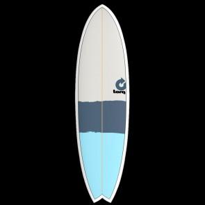 Torq Mod Fish 6'3 x 20 1/2 x 2 1/4 Surfboard - Green/Orange/Grey - Top