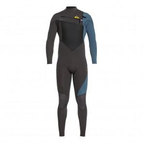 Quiksilver Highline Plus 3/2 Chest Zip Wetsuit - Jet Black/Blue Steel
