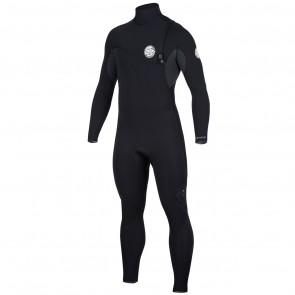 Rip Curl Flash Bomb 3/2 Zip Free Wetsuit - Black