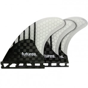 Futures Fins F6 Generation Tri-Quad - Carbon/Clear