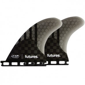 Futures Fins HS Generation Quad Rears - Carbon/Smoke