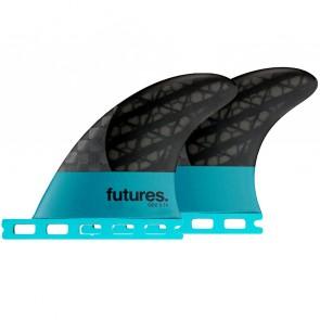 "Futures Fins QD2 3.75"" Blackstix 3.0 - Turquoise"