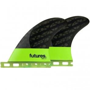 """Futures Fins QD2 4.0"""" Blackstix 3.0 - Light Green"""