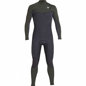 Billabong Furnace Absolute GBS 3/2 Chest Zip Wetsuit - Dark Olive