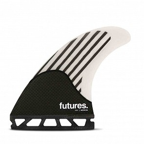 Futures Firewire Medium Tri Fin Set - White/Carbon