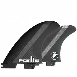 FCS II Fins FW PC Carbon Large Tri-Quad Fin Set