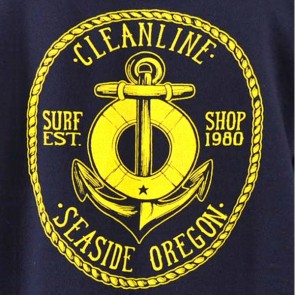 Cleanline Anchor Seaside Hoodie - Navy/Gold