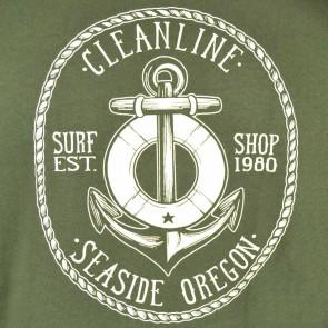 Cleanline Anchor Seaside Hoodie - Olive