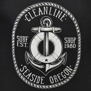 Cleanline Anchor Seaside Raglan T-Shirt - Black/Grey