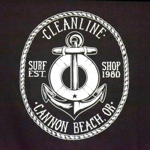 Cleanline Anchor Cannon Beach T-Shirt - Black