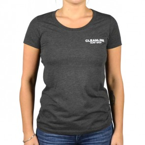 Cleanline Women's Lines T-Shirt - Grey/White