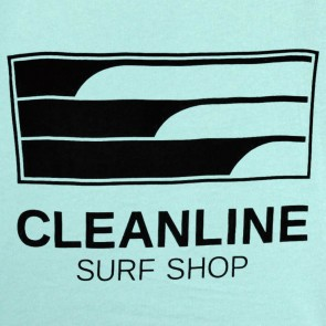 Cleanline Women's Lines Top - Seafoam Blue/Black