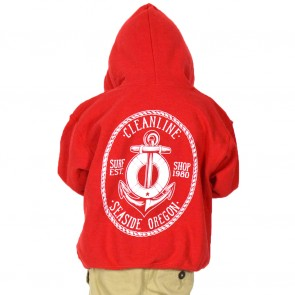 Cleanline Youth Anchor Hoodie - Red