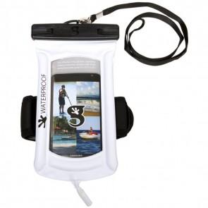 Geckobrands Waterproof Float Phone Dry Bag - White