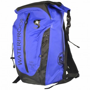Geckobrands X Cleanline Waterproof 30L Dry Backpack - Royal/Black