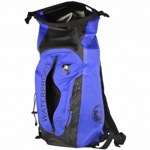 Geckobrands Waterproof 30L Dry Backpack - Royal/Black