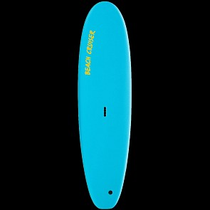 Gnaraloo Beach Cruiser Surfboard - Blue/Yellow - Deck