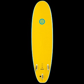 Gnaraloo Beach Cruiser Surfboard - Blue/Yellow