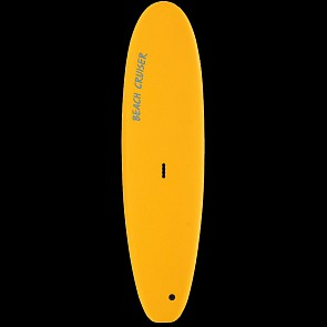 Gnaraloo Beach Cruiser Surfboard - Pilsner - Deck