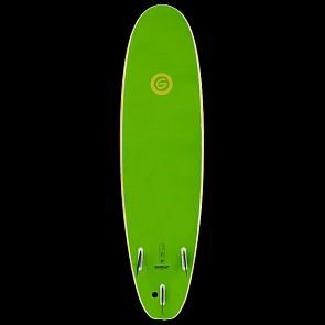 Gnaraloo Beach Cruiser Surfboard - Yellow Lime