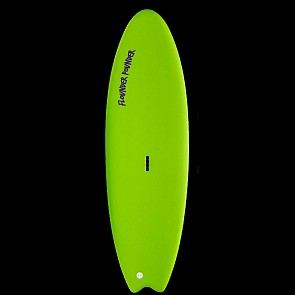 Gnaraloo Flounder Pounder Surfboard - Lime/Purple - Deck