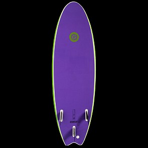 Gnaraloo Flounder Pounder Surfboard - Lime/Purple