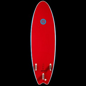 Gnaraloo Flounder Pounder Surfboard - Red