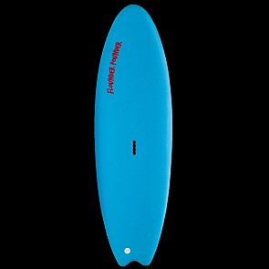 Gnaraloo Flounder Pounder Surfboard - Red - Deck