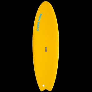 Gnaraloo Flounder Pounder Surfboard - Yellow - Deck