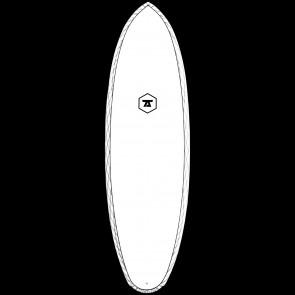 "7S Surfboards 6'6"" Double Down CV Surfboard"