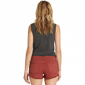 Billabong Women's Buttoned Up Shorts - Henna