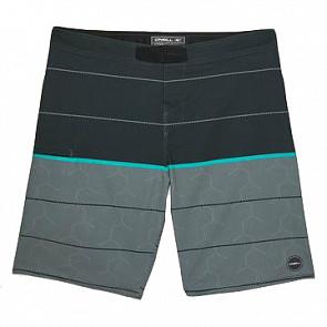 O'Neill Hyperfreak Hydro Boardshorts - Graphite - front