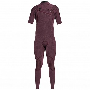 Quiksilver Highline Limited 2mm Short Sleeve Chest Zip Wetsuit - Wine