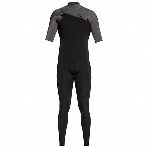 Quiksilver Highline Limited 2mm Short Sleeve Chest Zip Wetsuit - Black/Jet Black