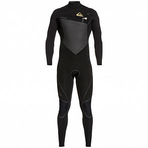 Quiksilver Highline Plus 4/3 Chest Zip Wetsuit - Black
