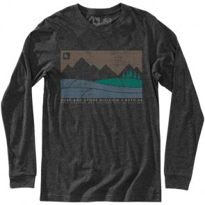 HippyTree Boundary Long Sleeve T-Shirt - Heather Charcoal