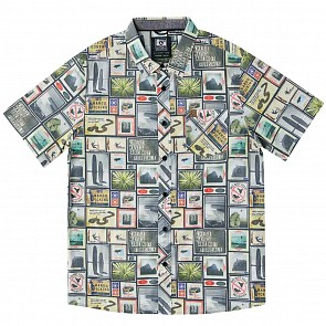 Hippy Tree Collage Short Sleeve Shirt - Natural