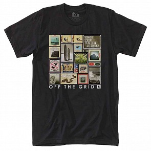 Hippy Tree Collage T-Shirt - Black