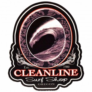 Cleanline Surf Midnight Barrel Sticker