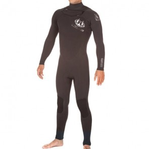 Hotline Reflex 2.0 4/3 Chest Zip Wetsuit - Black
