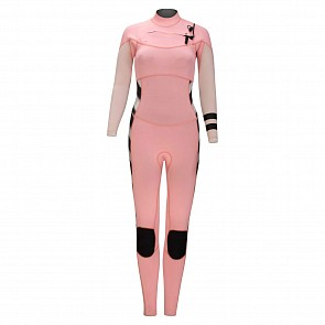 Hurley Women's Advantage Plus 4/3 Chest Zip Wetsuit - Pink Tinit
