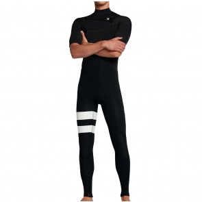 Hurley Advantage Plus 2/2 Short Sleeve Chest Zip Wetsuit - Black