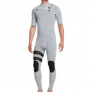 Hurley Advantage Plus 2/2 Short Sleeve Chest Zip Wetsuit - Wolf Grey