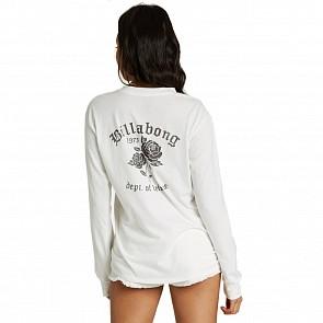 Billabong Women's Dept. Of Leisure Long Sleeve T-Shirt - Salt Crystal